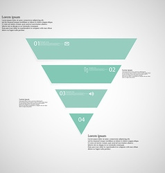 Triangle infographic template consists of four vector image