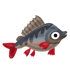 Trout fish icon cartoon style vector