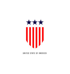 United stated america template design vector