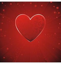 vintage pattern heart vector image vector image