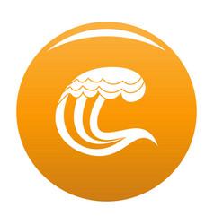 Wave nature icon orange vector