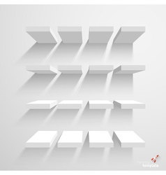White stairs mock up vector image