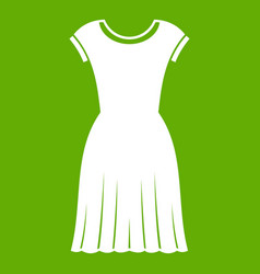 woman dress icon green vector image