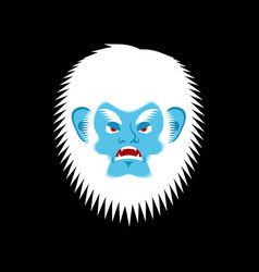 yeti angry emoji bigfoot evil emotion face vector image