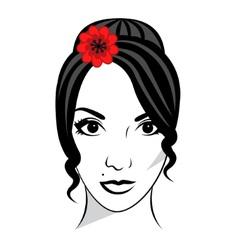 Beautiful female face vector image