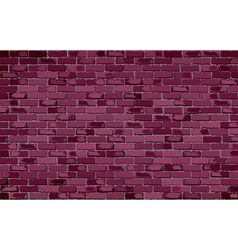 Burgundy brick wall vector image
