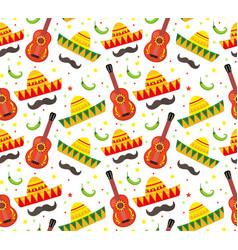 cinco de mayo seamless pattern mexican holiday vector image vector image