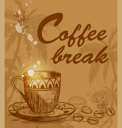 coffee break background vector image vector image