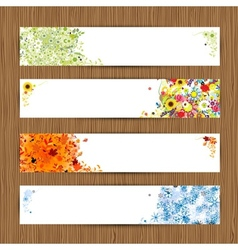 Four seasons - spring summer autumn winter Banners vector image