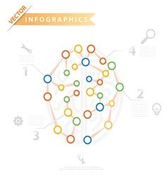 Infographic Brain vector image