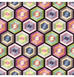 Seamless background geometry pattern vector image vector image