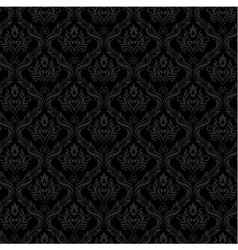Seamless Damask Wallpaper 3 Gray Color vector image vector image