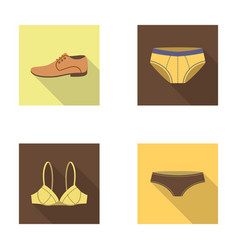 shoes shoe panties underwear and other clothes vector image