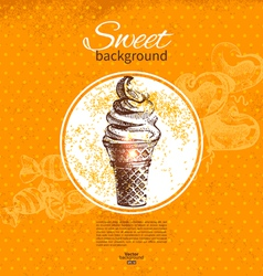 Vintage sweet background vector image vector image