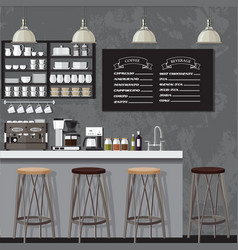 blackampwhite coffe shop vector image
