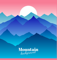 nature abstract mountain landscape and sunset vector image