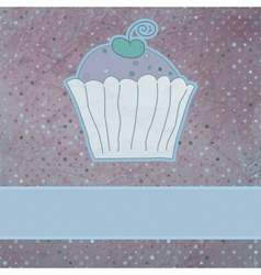 Retro card cupcake vector image
