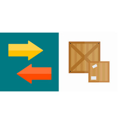 Shipping transportation moving box vector