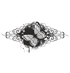 butterfly with pattern vector image