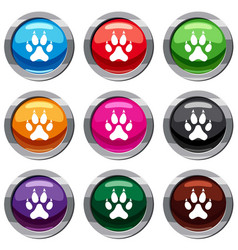 cat paw set 9 collection vector image vector image