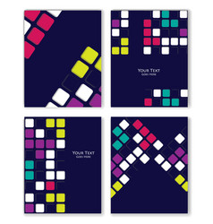 colorful retro templates set vector image vector image