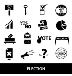 election black simple icons set eps10 vector image vector image