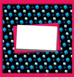 Grungy cubes frame vector image vector image