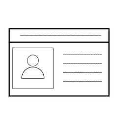 id card icon on white background car driver vector image vector image