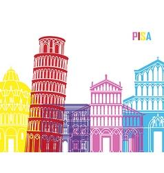 Pisa skyline pop vector image