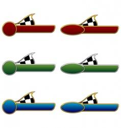 racing badges vector image