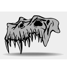 skull of demon vector image vector image