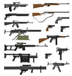Weapons Guns Set vector image vector image