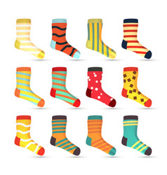 child socks icons big set in flat style vector image vector image