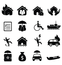 Insurance claim icons vector image vector image