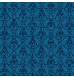 Seamless Damask Wallpaper 4 Blue Color vector image