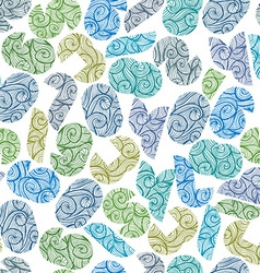 Seamless pattern with modern shape numbers vector image