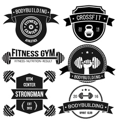 Sport And Fitness Badges vector image