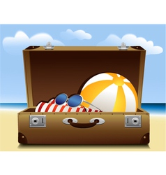 Summer luggage vector image vector image