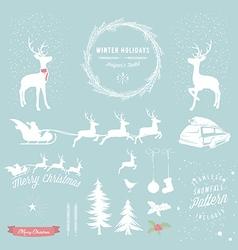 Winter Holidays designers toolkit vector image