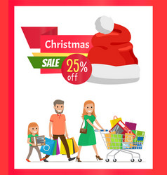 25 pecrcent off christmas sale vector