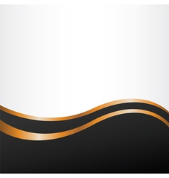 Abstract backgroun with golden lines vector image