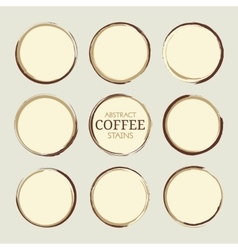 Abstract Coffee Stains vector