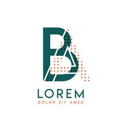 Ba modern logo design with orange and green color vector