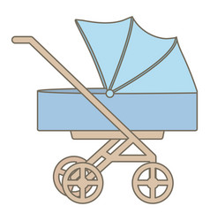 bacart trolley isolated icon vector image