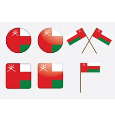 badges with flag of Oman vector image