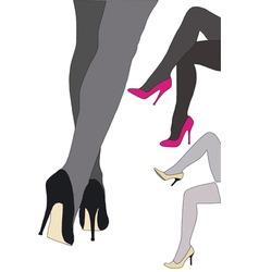 Beautiful high heels vector