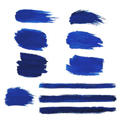 blue blots set vector image