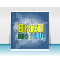 Brazil Rio Summer Games 2016 Flat design vector image