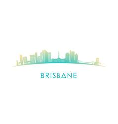 brisbane australia skyline silhouette vector image