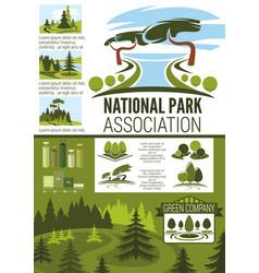 City park and garden landscape design infographic vector
